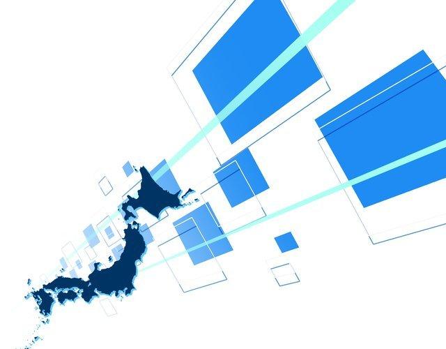 日本地図のビジネスイメージ