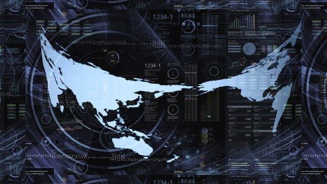 世界地図のグラフィック