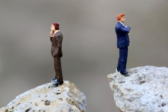 交渉決裂のイメージ