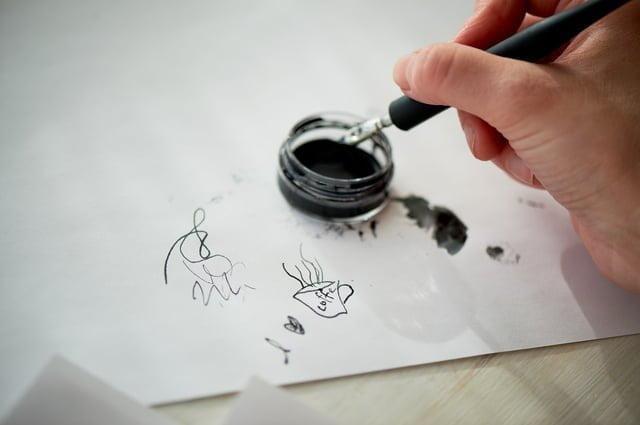 万年筆で試し書き