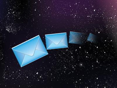 宇宙とメール