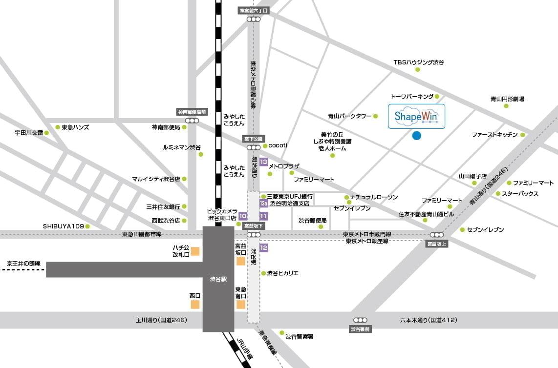 シェイプウィン地図渋谷